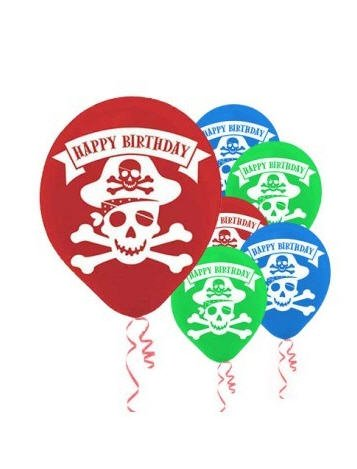 Pirate Party Printed Latex Balloons