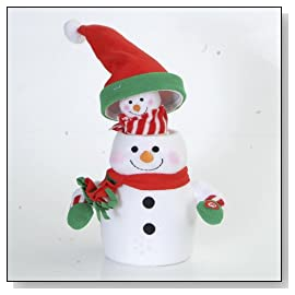 Battery Operated Musical Animated Snowman with Snow Baby