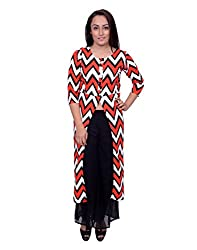 Snoby Red Print Long Dress (SBY6029)