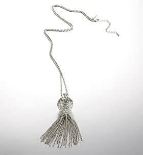 Autograph Diamanté Tassel Necklace
