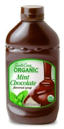 Santa Cruz Organic Syrup,  Mint Chocolate, 15.5-Ounce Bottles (Pack of 4)