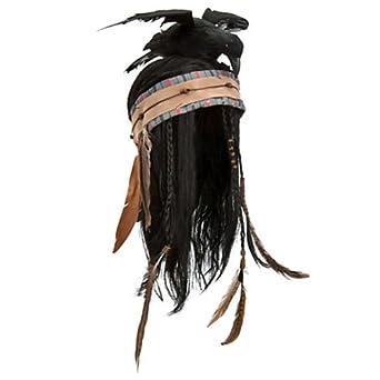 Amazon.com: Lone Ranger TONTO Headdress Full Length Hat Wig with Crow