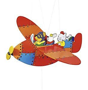 Nursery Mobiles : Large Aeroplane Mobile with flapping wings