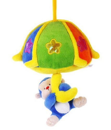 Itty-Bitty Baby Early Development Toys Multifunctional Plush Hanging Monkey Bed Hang Ring Bell Musical front-522830