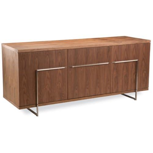 Bleecker Urban Modern Buffet Table in Walnut Finish - Credenza Buffet