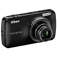 Nikon Coolpix S800 C 16.0MP Point-and-Shoot Digital Camera (Black) with 4GB Card, Camera Pouch, HDMI Cable