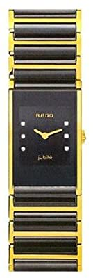 Rado Women's R20789752 Integral Black Dial Ceramic Bracelet Watch