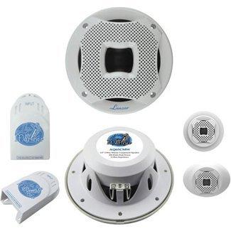Lanzar Aq65Cmw 500 Watts 6.5-Inch 2-Way Marine Component System - Silver