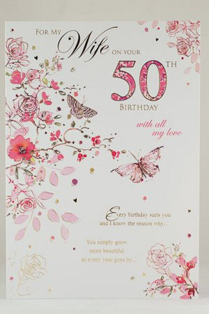 Deluxe Wife 50th Birthday Card Birthday Cards