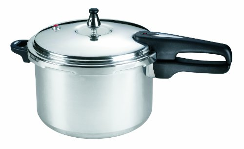 Mirro 92180A Polished Aluminum Pressure Cooker Cookware, 8-Quart, Silver
