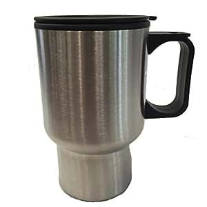 Travel Coffee Mug Steel Outside With