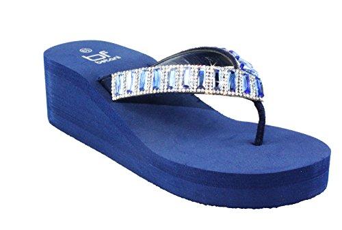 Betani Women's Evelyn-9 Flip Flop Thong Platform Wedges EVA Sandals