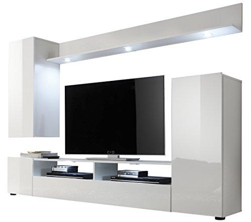 trendteam-DS94501-Wohnwand-Anbauwand-Wohnzimmerschrank-wei-Nachbildung-und-Front-in-wei-Hochglanz-BxHxT-208-x-165-x-33-cm