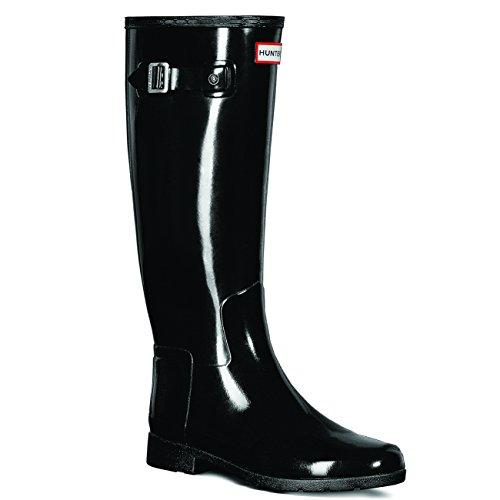 Hunter Original Refined Gloss Black Women's Rain Boots (Hunter Rain Boots Ladies compare prices)