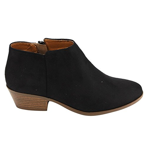 Soda FC67 Women's Western Inside Zipper Stacked Heel Ankle Booties, Color:CLAY SUEDE, Size:7 (Soda Suede Boots compare prices)