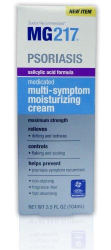 MG217 Psoriasis Medicated Salicylic Acid Formula Multi-Symptom Cream, 3.5 Fluid Ounce (Salicylic Acid Cream compare prices)