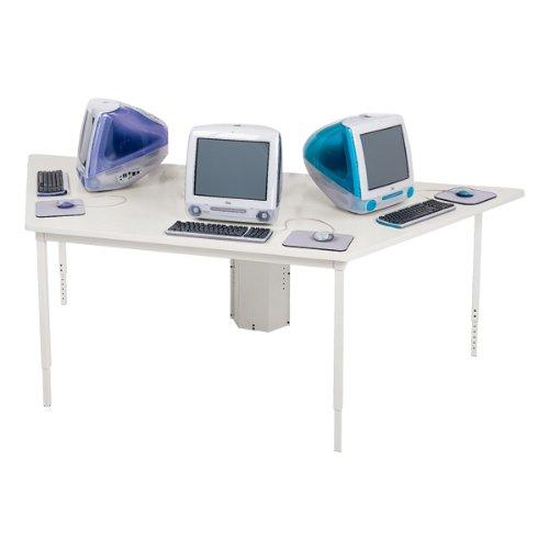 Buy Low Price Comfortable Bretford Quattro Trapezoid Computer Table (50″ W x 80″ L) (B0044G2PNQ)