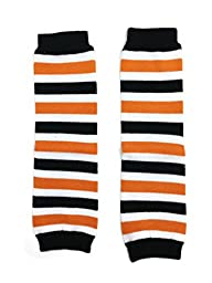 Rush Dance Halloween Parties/ Parades Boys or Girls Baby/ Toddler Leg Warmers (One Size, Orange & White & Black Stripes)