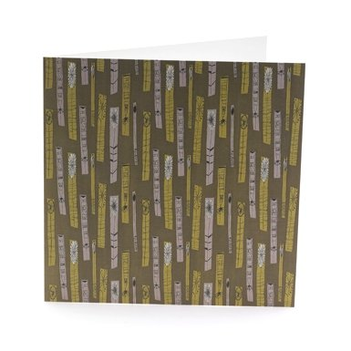 Lucienne Day 'Flower Show' Single Greeting Card