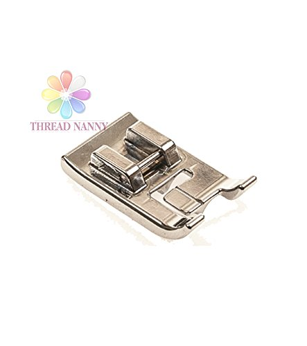 ThreadNanny Double Piping Sewing Machine Presser Foot - Fits All Low Shank Snap-On Singer*, Brother, Babylock, Euro-Pro, Janome, Kenmore, White, Juki, New Home, Simplicity, Elna and More! (Piping Foot For Sewing Machine compare prices)
