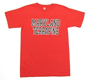 Buy Maryland Terrapins Wordmark T-Shirt - Red by Red Oak