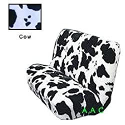 Universal-fit Animal Print Bench Seat Cover - Cow