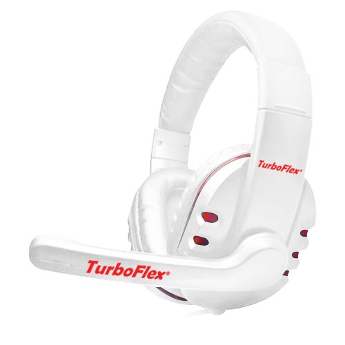 Turboflex™ Pc Gaming Headset - Amazing Crisp Clear Stereo Over Ear Headphones With Microphone / Universal Computer Headset For Games, Skype, Voip, Etc. / Exceptional Noise Reduction And Noise Cancelling / Powerful Drivers With Deep Rich Bass / Ultra Light