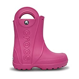 Crocs Childrens/Kids Handy The Rain Wellington Boots (8 US Toddler) (Fuchsia)
