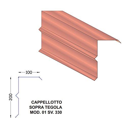 scossalina-cappellotto-sopra-tegola-in-lamiera-preverniciata-testa-di-moro-sv330-mod1-barra-2-metri-