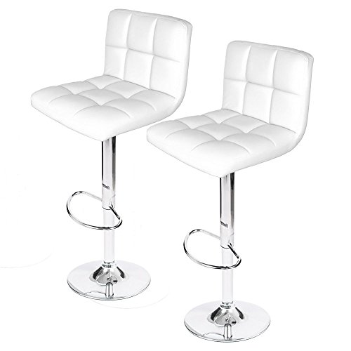 Homall Modern PU Leather Swivel Adjustable Barstools,Synthetic Leather Hydraulic Counter Stools (White Set of 2) (Countertop Table Sets compare prices)