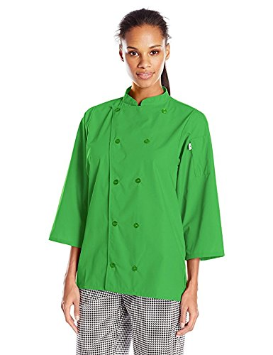 Uncommon Threads Women's Epic 3/4 Sleeve Chef Shirt, Lime, Small (Food Service Clothing compare prices)