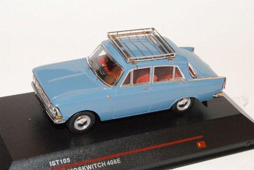 Moskwitch 408E Limousine Blau 1966 IST105 1/43 Ist Ixo Modell Auto