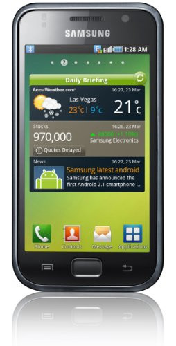 Samsung I9000 8 GB Galaxy S Unlocked GSM Smartphone with 5 MP Camera, Android OS, Touchscreen, Wi-Fi, GPS and MicroSD Slot - Unlocked Phone - No Warranty - Black