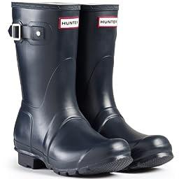 Women\'s Hunter Boots Original Short Snow Rain Boots Water Boots Unisex - Blue - 5