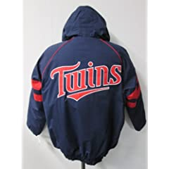 G-III Minnesota Twins Mens 2X-Large Full Zip 2 Stripe Winter Jacket AMTW1 2XL by G-III Sports