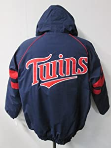 G-III Minnesota Twins Mens X-Large Full Zip 2 Stripe Winter Jacket AMTW1 XL by G-III Sports