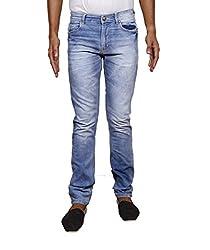 John Wills Men's Slim Fit Jeans (MCR1006--30, Blue, 30)