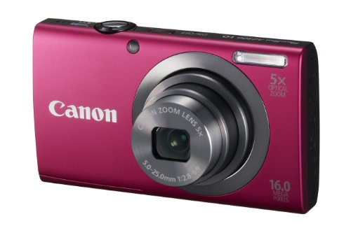 41AcZPYZ68L Canon PowerShot A2300 16.0 MP Digital Camera with 5x Digital Image Stabilized Zoom 28mm Wide Angle Lens with 720p HD Video Recording (Red)