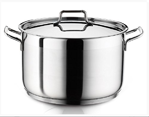 Ybm Home Stainless Steel Stockpot with Lid H9 (9 Quart)