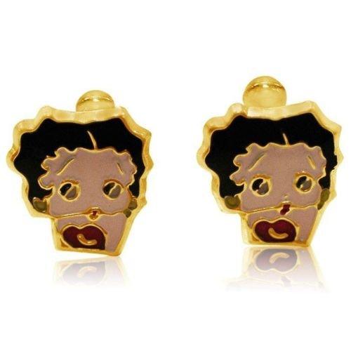 Bijoux Kids-Betty Boop orecchini a vite-tono oro