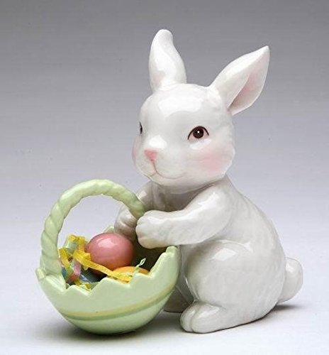 Porcelain Bunny with Easter Basket