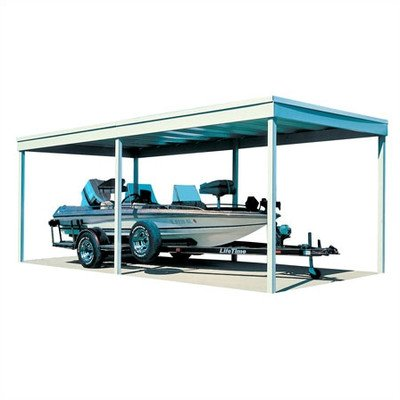 Arrow Sheds CP1020 Free Standing Car Port, 10 by 20-Feet (Rv Carport Metal Kits compare prices)