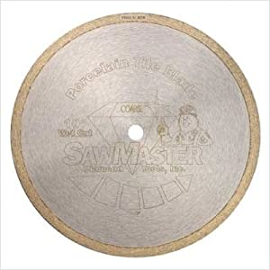 "Prolong Series Wet Porcelain Tile Continuous Rim Diamond Blades Blade Size: 10"" (Fine)"