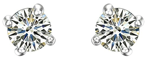 amdxd-jewelry-gold-plated-women-stud-earrings-white-gold-four-claws-single-drills