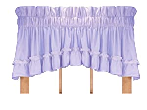 Stephanie Country Ruffle Crescent Valance Curtain 3 Inch Rod Pocket Lilac Home