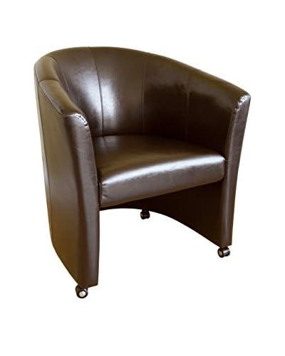 Baxton Studio Vittore Club Chair, Dark Brown