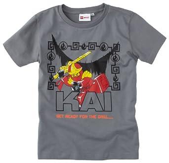 Lego wear - ninjago kai - t-shirt - garçon - gris (light grey) - 4 ans