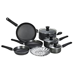 T-Fal Initiatives 10-Piece Nonstick Cookware