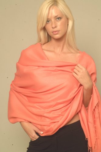 Pashmina Shawl (Regular) From Cashmere Pashmina Group In Vivid 55 Colors (Ash) front-791870