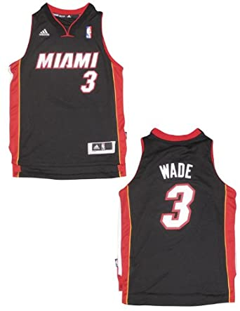 NBA Miami Heat Wade #3 Youth Pro Quality Athletic Jersey Top by NBA